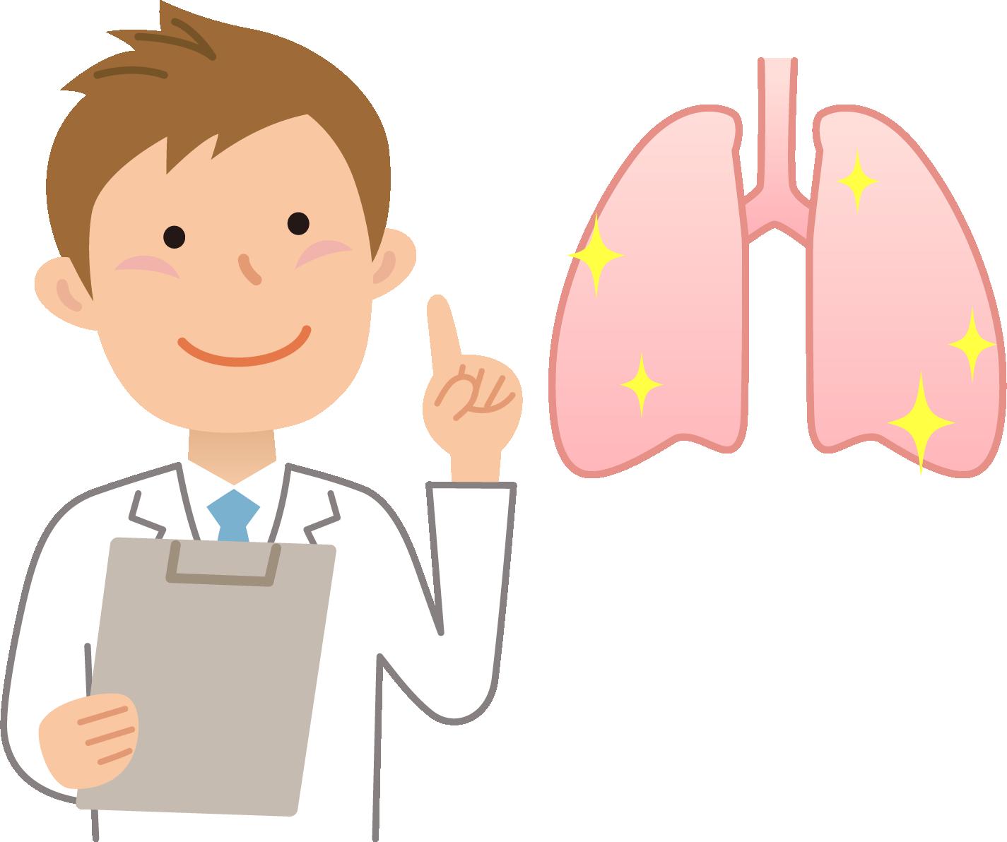 小児期の肺機能障害は、その後の肺機能の低成長に強く影響する