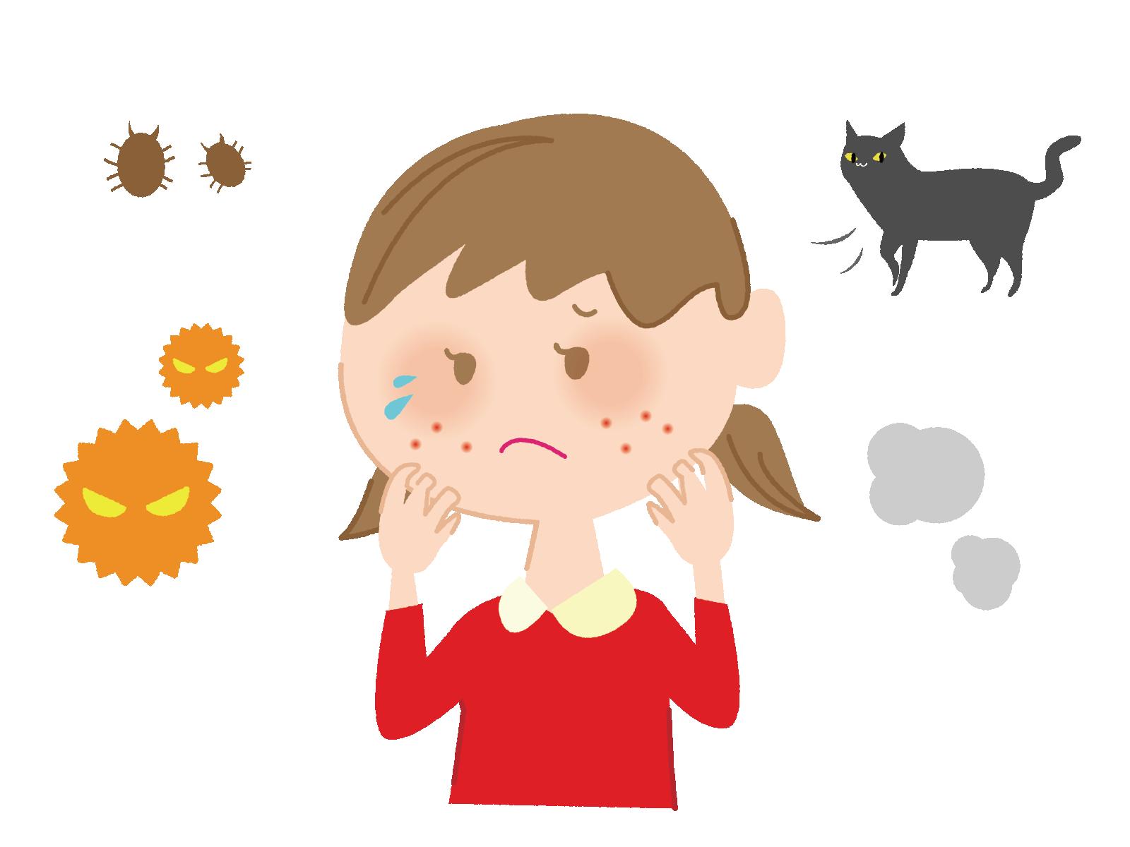 乾燥体質よりも乳幼児期の湿疹歴の方が、その後の多くのアレルゲンへの感作に影響する