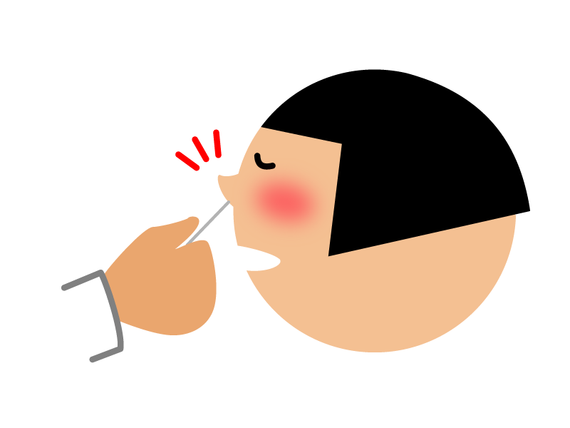 インフルエンザ迅速検査は、症状出現後2日目の検査がもっとも精度が高い