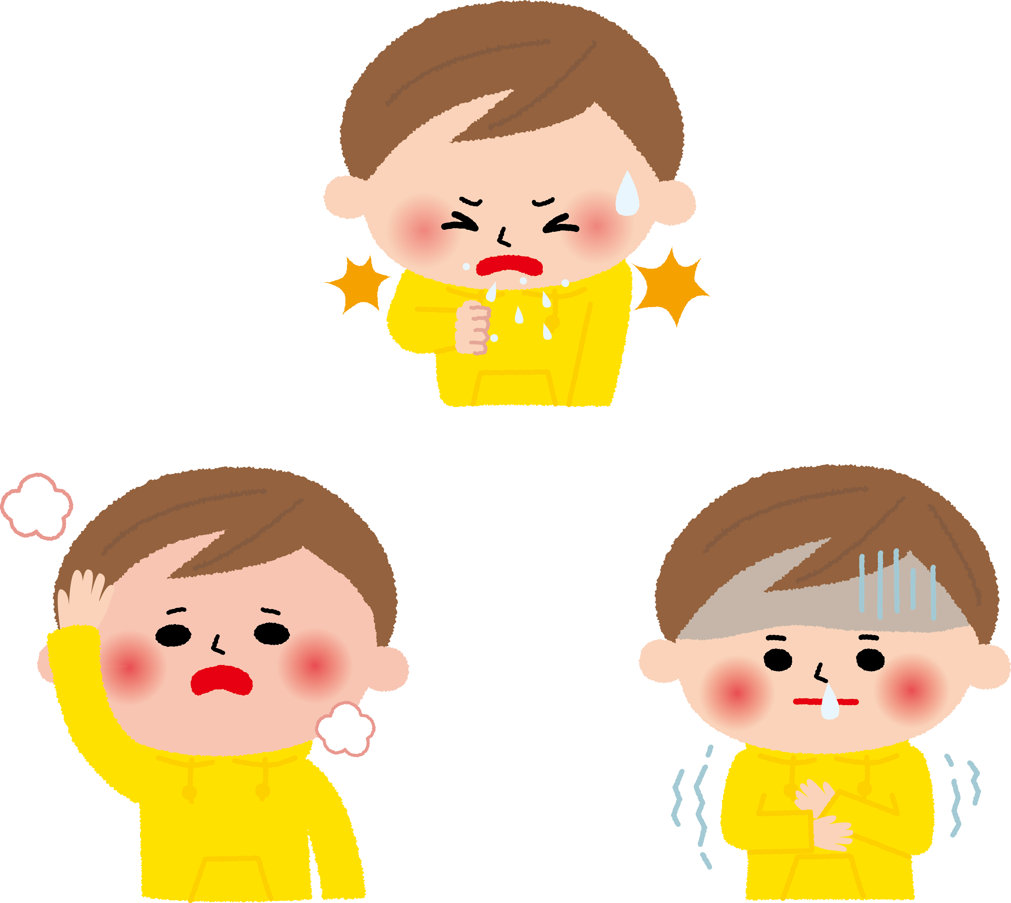 小児の風邪症状は、どれくらい続くのか?
