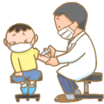 予防接種前にショ糖を舌下にいれると、予防接種時の痛みが軽減する