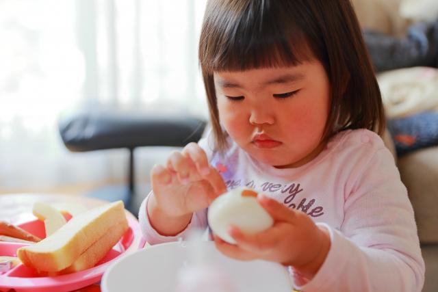 軽症の卵アレルギー児の経口免疫療法としては、家庭で週ごとに増量するより、病院に受診ごとに増量し維持した方が、有効かもしれない