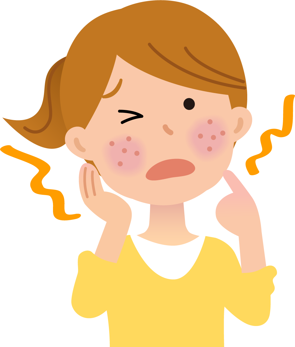 デュピルマブ(デュピクセント)投与中の、顔面や頸部の紅斑:システマティックレビュー